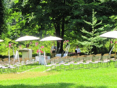 wedding in the park
